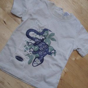 3-6M Baby Tee Short Sleeve With Snaps At Back